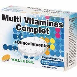 Vallesol multivit complet oligoelementos 24 comp eferv